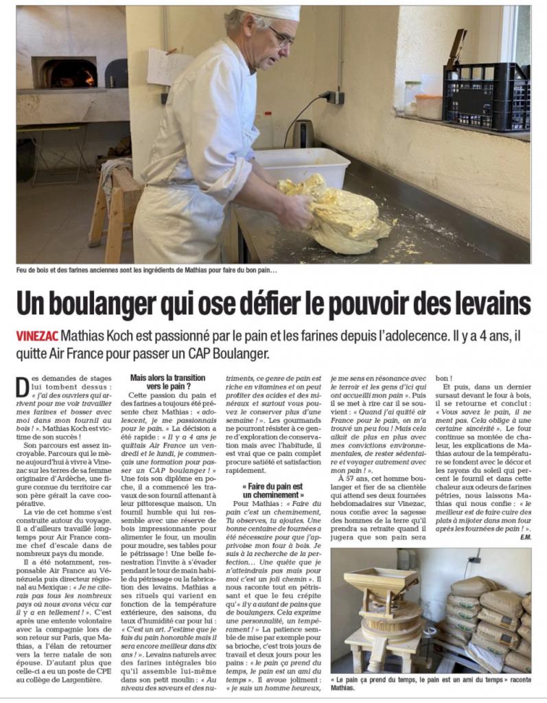 Matthias Koch ancien d'Air France et boulanger